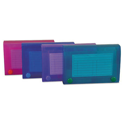 C-Line Index Card Case Holds 100 3 x 5 Cards Polypropylene Assorted Colors 58435