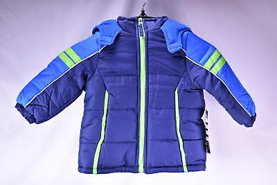 iXtreme Toddler Boys' Colorblock Active Puffer Snow Jacket - NAVY