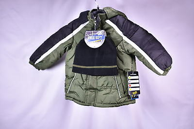 iXtreme Toddler Boys' Space Dye Print Puffer Winter Snow Jacket - OLIVE