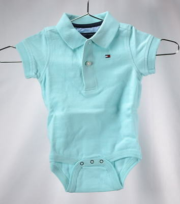 Tommy Hilfiger Infant Boys Short Sleeve Ivy Bodysuit - MINTY FRESH