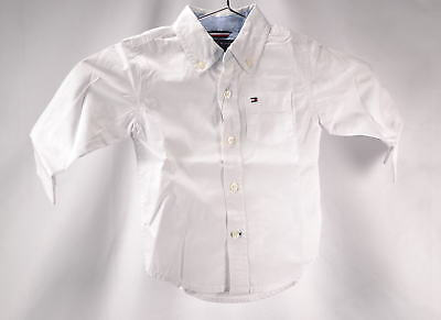 Tommy Hilfiger Baby Boys' Classic Button Up Dress Shirt - WHITE