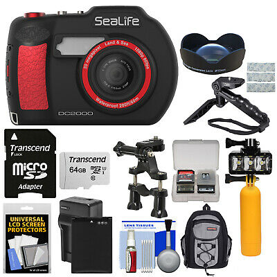 SeaLife DC2000 HD Wi-Fi Underwater Digital Camera with Wide Angle Lens Kit