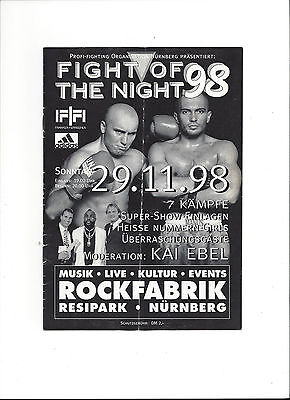 Box - Programm: Fight of the Night - Rockfabrik, Nürnberg, 29.11.1998 - Kai Ebel