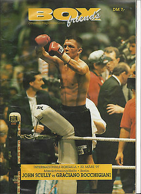 "Box - Programm Graciano ""ROCKY"" Rocchigiani - John Scully, Berlin 22.03.1997"