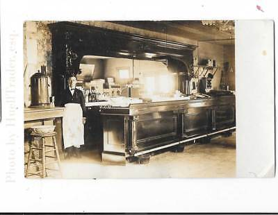 Antique RPPC, Old Texas(?) Saloon Photo, Old Sharp Bar Photo, Unposted c1910