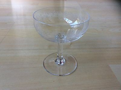 BACCARAT EMBOSSED French Etched Crystal Coupe Champagne Glass ...