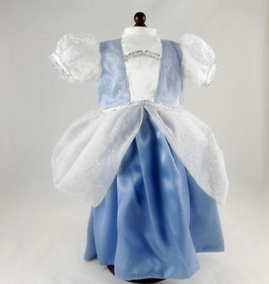 "Blue and White Princess Gown  Fits 18"" American Girl Dolls"