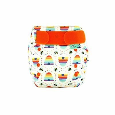 Tots Bots Easyfit Star One Size Cloth Diaper 8-35lbs All-In-One (Bee Kind)