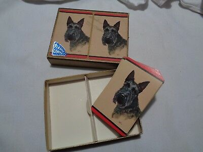deck of vintage scottie dog playing cards no jokers very good condtion- box