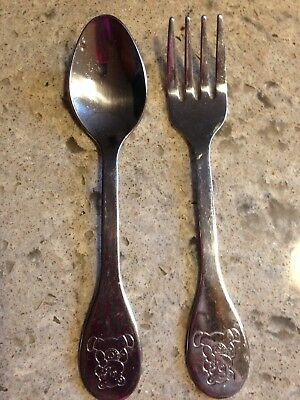 Tommie Tippie Vintage Child's Spoon And Fork Set Stainless  Pre-Owned