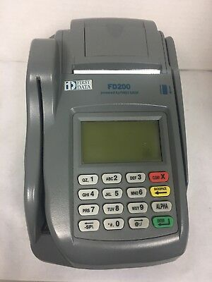 First Data FD200 WiFi Terminal & Check Reader Plus FD-35 Pin Pad WORKS GREAT