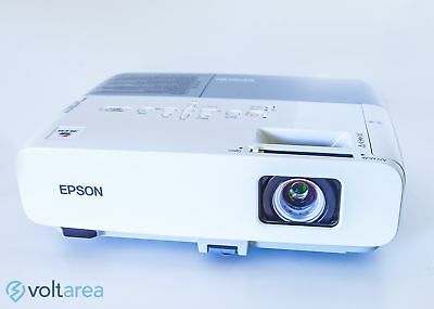 Epson PowerLite 84 LCD Projector HD Fully Functional remote + HDMI adapter + cab
