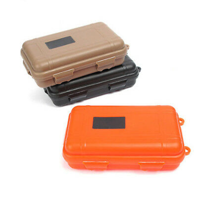 Plastic Waterproof Shockproof Outdoor Survival Container Case Carry Box 3Colors