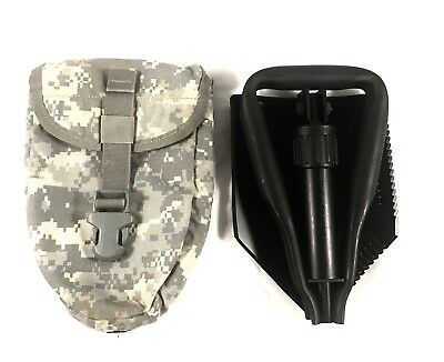 USED Entrenching Tool Trifold Folding Etool With E Tool Carrier VGC