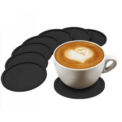 1/2/5Pcs Black Silicone Drink Coaster Placemats For Table Mats Dinner Tools