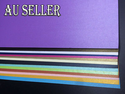Bulk 50 x 250gsm A4 Pearlised Cardstock Pearlescent Shimmer Card Craft Paper
