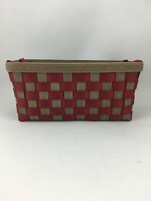 Longaberger 2008 To Go Tote Side Handles Red w Protector