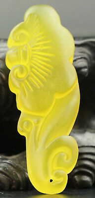 Chinese natural jade hand-carved ruyi flower pendant NO.C137