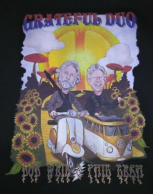 Bob Weir Phil Lesh Grateful Dead Duo T Shirt Black