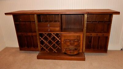 Vintage Fold Up Wine Cabinet Home Bar Drinks Wooden Rh Picclick Co Uk