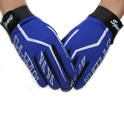 Fashion Mens Full Finger Sport Gloves Exercise Fitness Gym & Workout Black