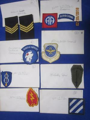 Mixed Lot of Military Patches, WW2, Viet Nam, Old Stock     ( Lot 6)