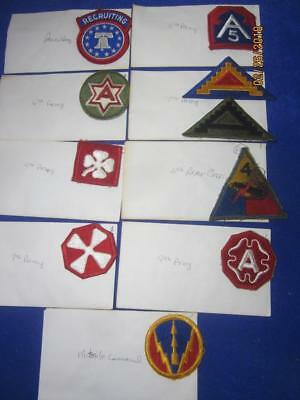 Mixed Lot of Military Patches, WW2, Viet Nam, Old Stock     ( Lot 4)