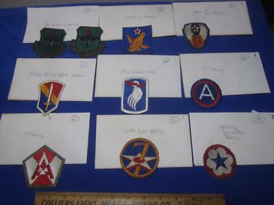 Mixed Lot of Military Patches, WW2, Viet Nam, Old Stock     ( Lot 1)