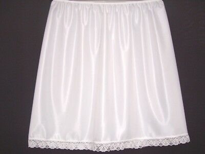 "Underskirt Waist Slip Half Slip 20""Finish(Short)£5.40 White,Black & Cream"