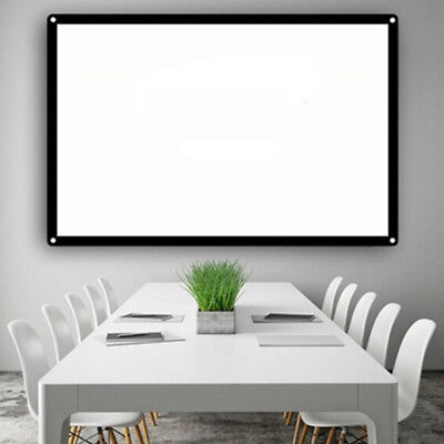 Projection Screen Projector Curtain Lightweight Durable HD Glass Yarn Indoor