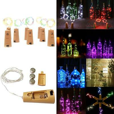 1.5M LED Cork Shape String Fairy Night Light Wine Bottle Lamp Batter DN