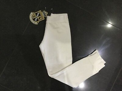 NWT Juicy Couture New & Genuine Girls Age 6 White Cotton Leggings