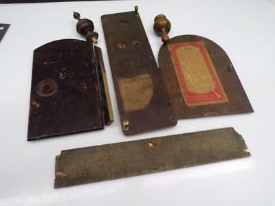 Vintage Rival Sessions Clock Case Rear Doors Bottom Plate Wooden Finials    D270