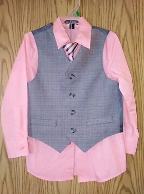 Boys Size 4 George Dress Shirt Tie and Vest