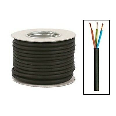 3 CORE RUBBER CABLE H07RN-F HO7RNF TOUGH HEAVY DUTY 1mm 1.5mm 2.5mm 4mm 6mm