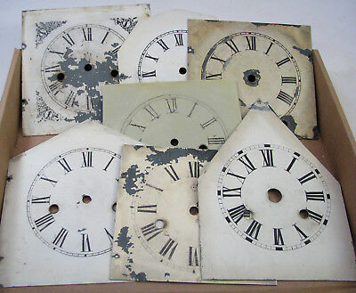 Lot Of Vintage Parlor Shelf Clock Dial Case Parts Repair