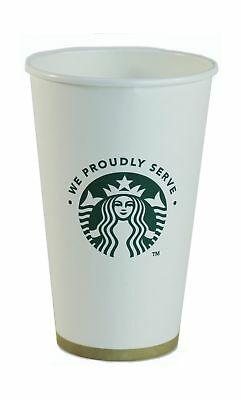 Starbucks White Disposable Hot Paper Cup, 16 Ounce, 100 Pack 16 Oz