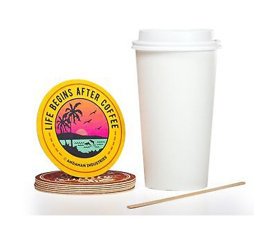 Solo 12 oz Hot Paper Coffee Cups (100ct) Bundle - Cup, Lid, Stir Stick, and C...