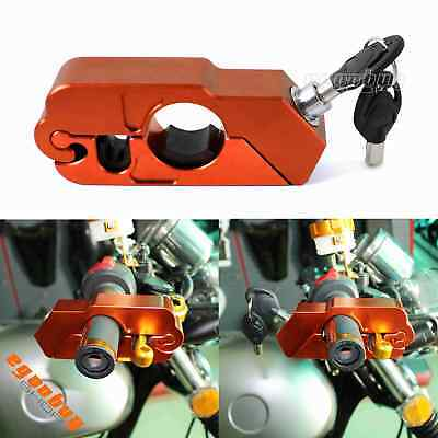 Dirt Bike Scooters Anti-Theif Anti-Steal Hand Grips Brake Lever Security Lock