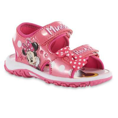 NEW Girls Disney Minnie Mouse Sandals Size 6 7 8 9 10 11 or 12
