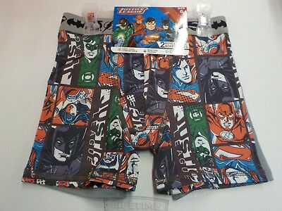 Boys Size 6 Justice League 2 Pack Athletic Boxer Briefs Underwear New #7471