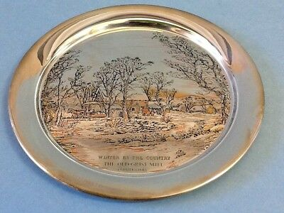 The Danbury Mint Plate Currier & Ives 1974 Winter In The Country w/Box; COA
