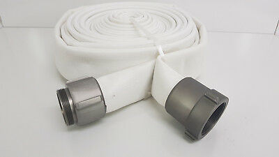 50' Jason IND Coupled DJ Mill Rubber Discharge Fire Hose 2' Polyester Jacket