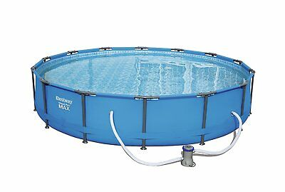 Bestway 14 foot Swimming Pool with Pump Filter Steel Frame 14ft x 33inch BW56595