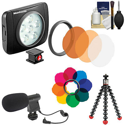 Manfrotto Lumimuse 6 On-Camera LED Video Camcorder Light with Filter Kit