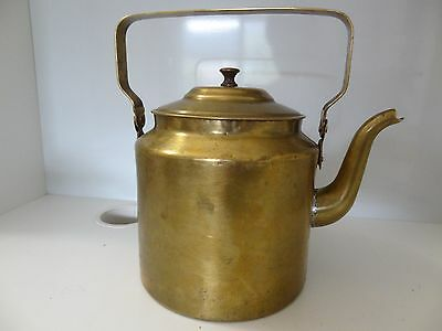 VINTAGE MONGOLIAN  BRASS LARGE POT KETTLE FROM 60's
