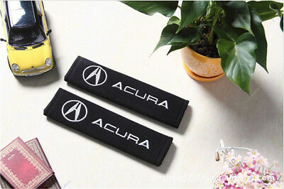 1 Pair Embroidery Seat Belt Cover Shoulder Pads Covers Cushion For Acura