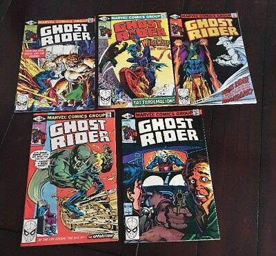 Ghost Rider Issues 53, 55, 56, 57, 58 (Marvel - 1980-81)
