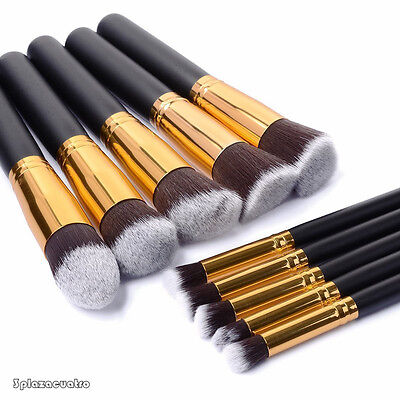 Style master Cosmetic Makeup Brushes Set 10PCS Kabuki Brush Best Gift Pro SKY