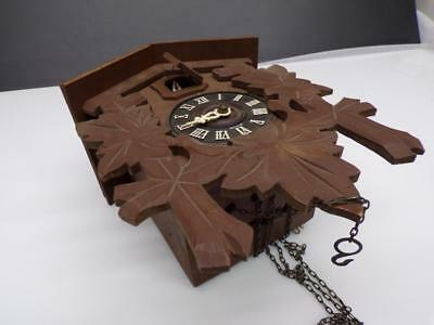 German Black Forest Cuckoo Clock Mfg. Co. w/ 100/171 Brass Movement Parts D275